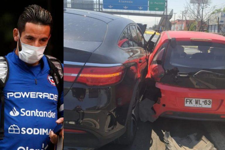 Acusan que Mauricio Isla escapó tras protagonizar un accidente automovilístico