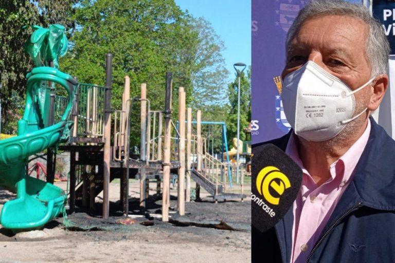 Alcalde Krause se indigna por quema de juegos: «Es una mente desquiciada»
