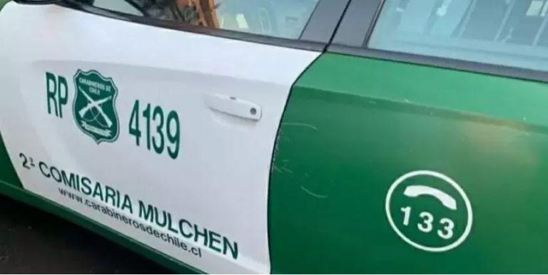Detienen en Mulchén a sujeto a bordo de un auto robado