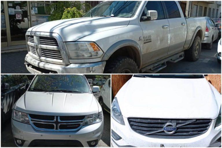 Carabineros recupera tres autos robados de alta gamma en Los Ángeles